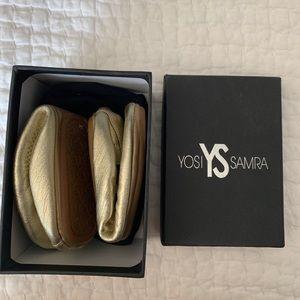 Yosi Samra metallic ballet flat. Size 5